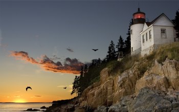 Wallpaper: Lighthouse from Bar Harbour