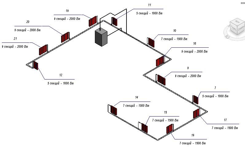 Revit Mep for Engineer: Тепловой расчёт системы отопления
