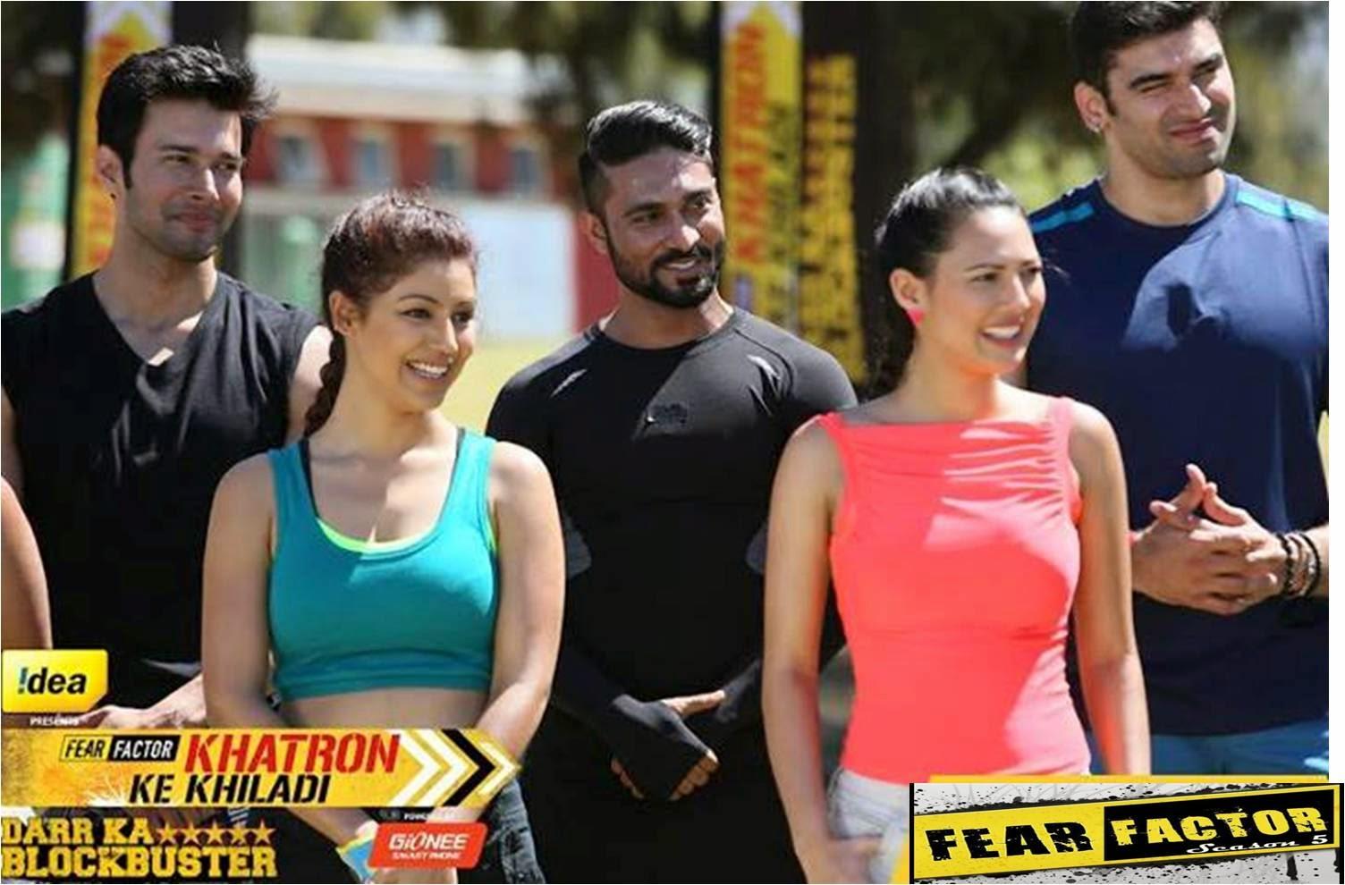 Fear Factor Khatron Ke Khiladi Rajneesh, Salman, Nikin, Debina and Rochelle