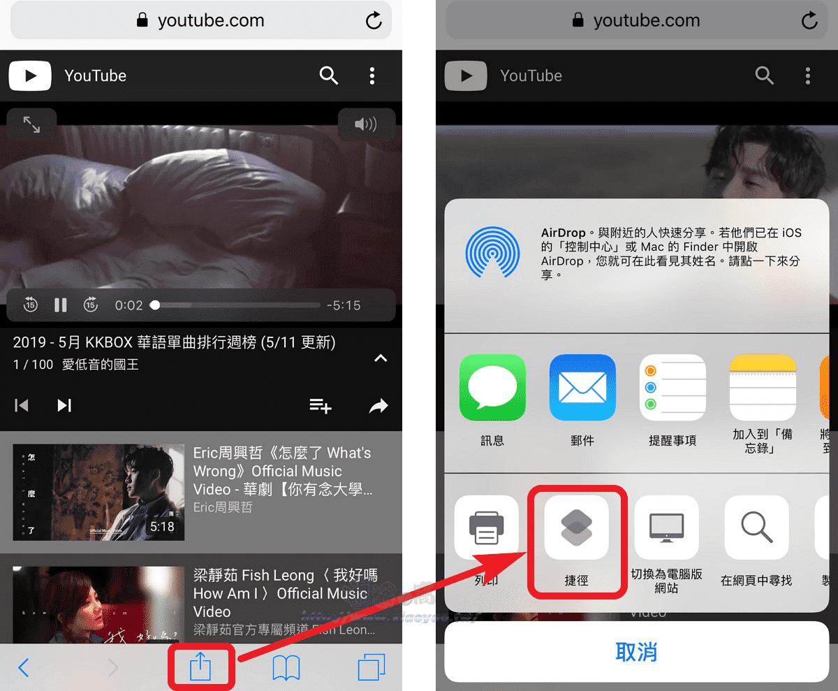 YoubackS 捷徑腳本Safari可背景播放YT音樂