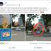 [ CEK FAKTA ] TUGU KB DI BANTUL DITUTUP TERPAL GARA-GARA PAKAI SIMBOL 2 JARI