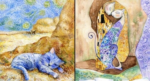 00-Veselka-Velinova-Paintings-of-12-Cats-in-Different-Art-Styles-www-designstack-co