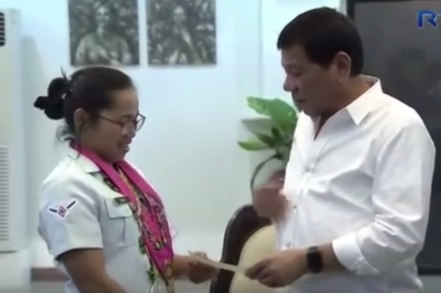 Hidilyn Diaz and President Duterte