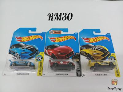 Hot Wheels Mazda MX-5 Miata Lot of 3