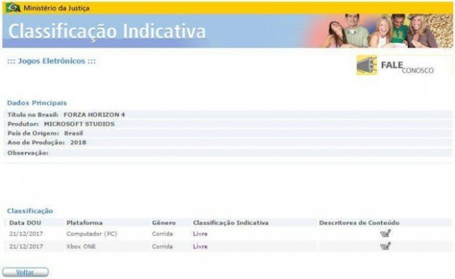 Forza Horizon 4 se registra en Brasil