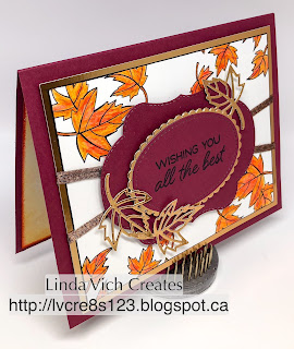Linda Vich Creates: Part One: Edge Stamping With Blended Seasons. The Stamparatus is used for this Edge Stamping Technique which then uses Watercolor Pencils with the Blended Seasons Bundle to create this lovely card.