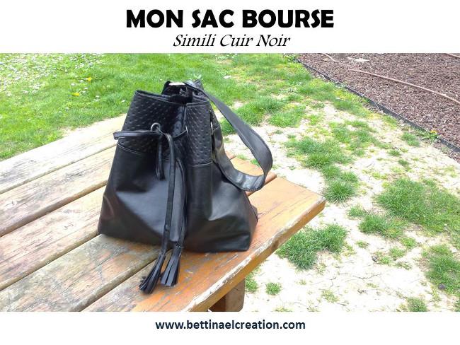 coudre du simili cuir mod le de sac bourse bettinael passion couture made in france. Black Bedroom Furniture Sets. Home Design Ideas