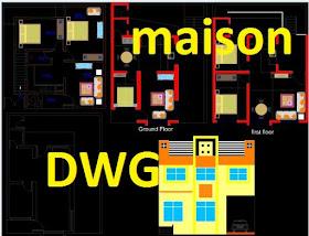 Plans De La Maison Autocad Dwg 10 6