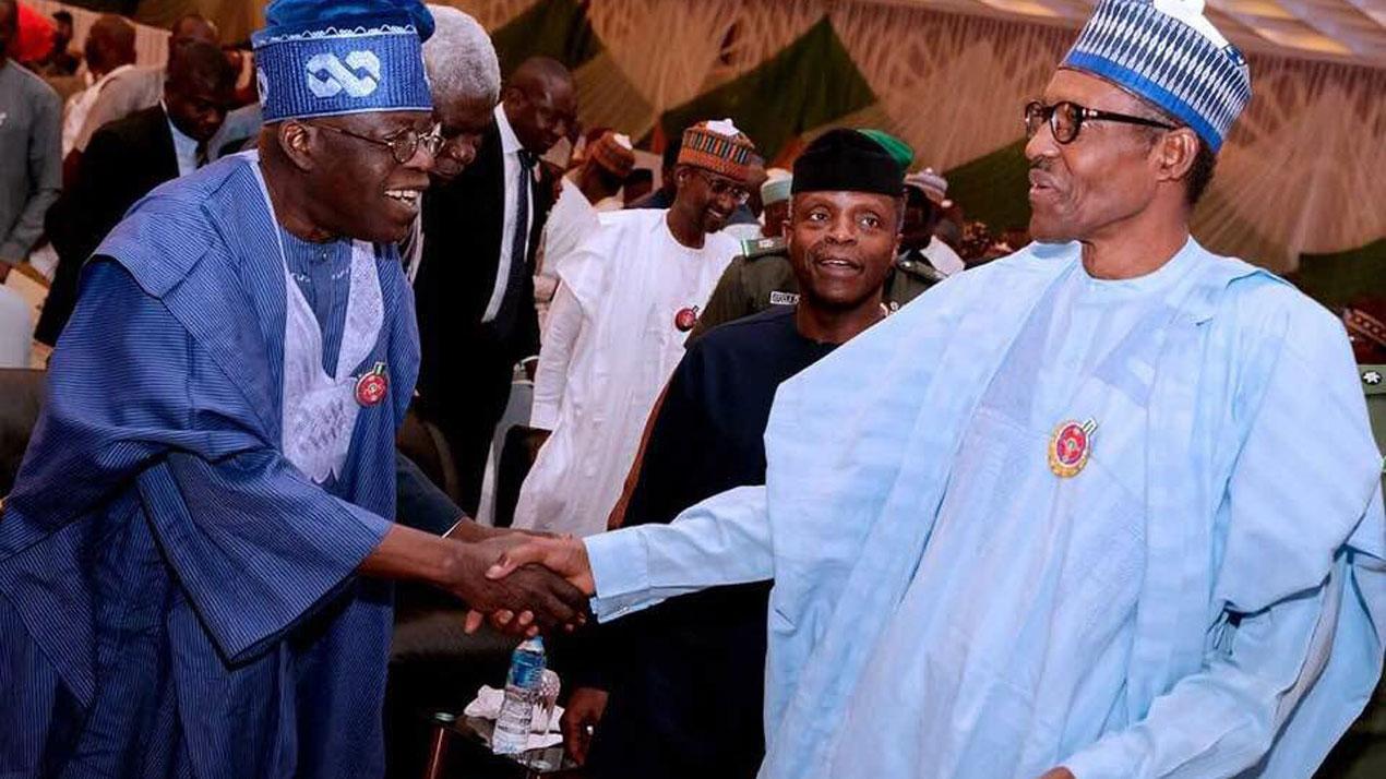 ''Buhari deserves a second term, he kept his campaign promises''- Bola Tinubu