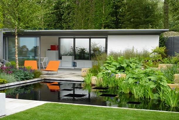 Дачный двор в стиле модерн