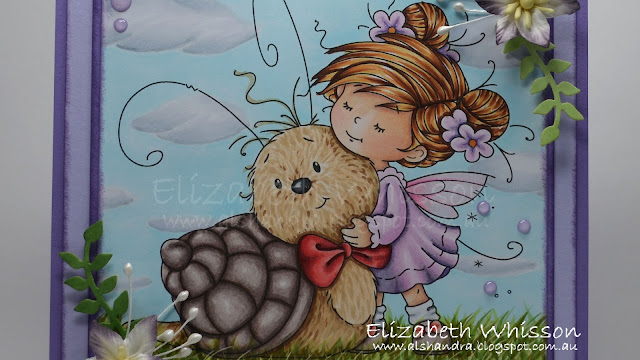 Whimsy Stamps, Love You Slow Much, snail, copic, copic colouring, copic coloring, speed colouring, video, flowers, girl, handmade card, Elizabeth Whisson, Alshandra