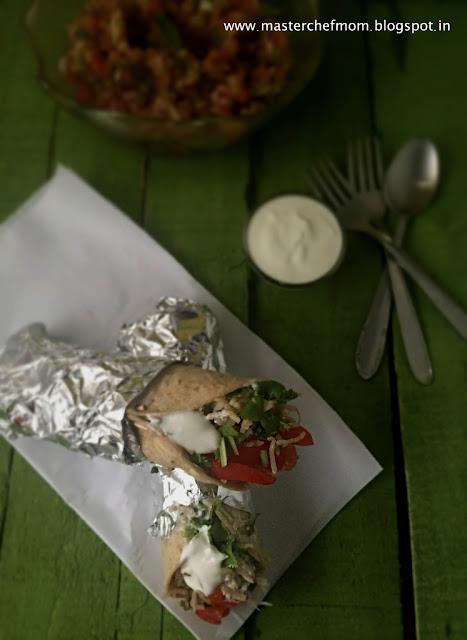 Desi Burrito  Garbanzo Bean and Spinach Burrito