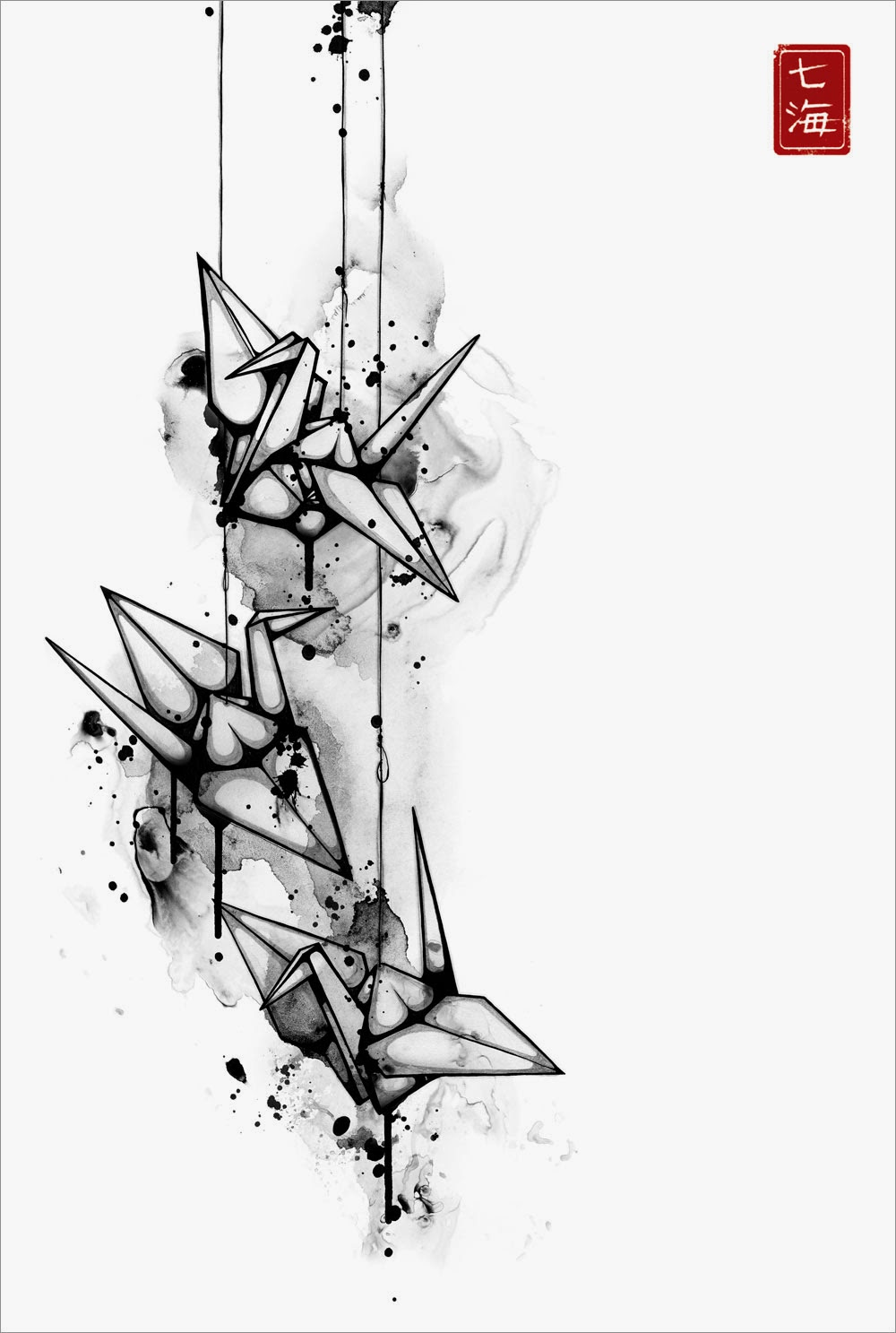 15-Tsuru-Nanami-Cowdroy-Splashes-of-Ink-Drawings-www-designstack-co