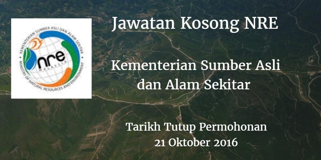Jawatan Kosong NRE 21 Oktober 2016