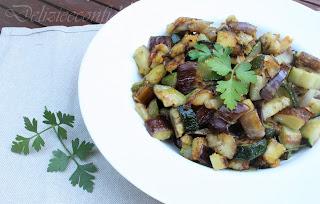 Melanzane e zucchine spadellate