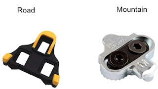 road and mountain bicycle cleats