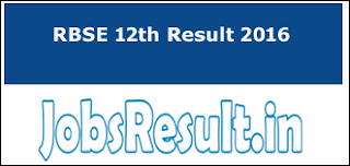 RBSE 12th Result 2016