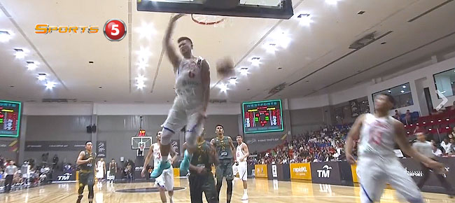 Kobe Paras' Sky-High Alley-Oop Slam Dunk vs Myanmar (VIDEO) SEA Games 2017