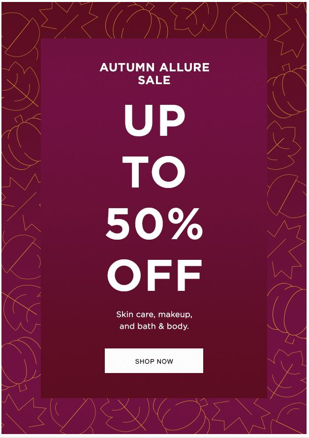 Fall In Love With Up To 50% Off!