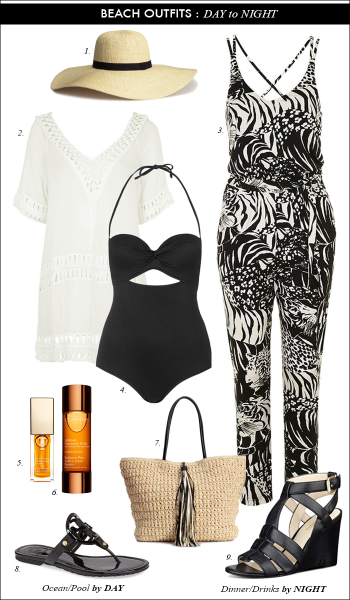 summer outfit, casual outfit, bathsuit, jumpsuit, casual summer outfit, straw hat