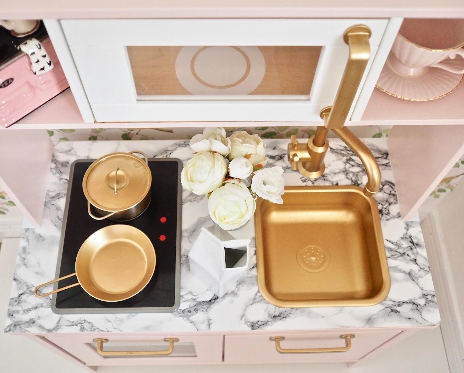 Ikea Duktig Play Kitchen Makeover Dainty Dress Diaries