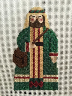 carol dupree needlepoint nativity 2nd shepherd