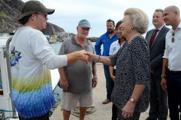 Princess Beatrix opened the Mary's Point hiking trail in the new Mount Scenery National Park on Saba