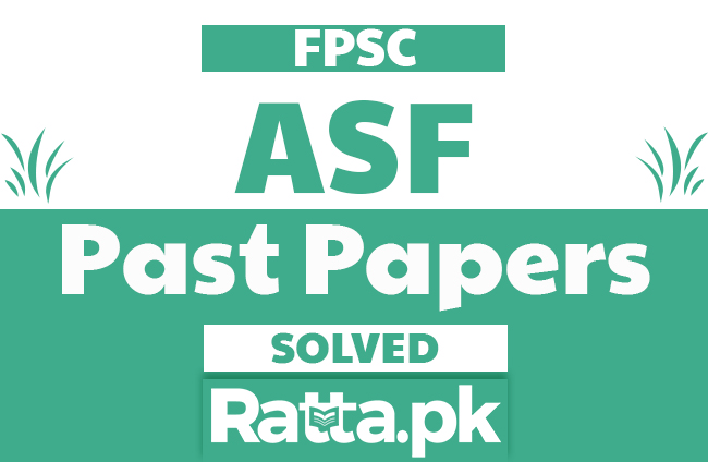 FPSC ASF Past Papers Solved pdf Download