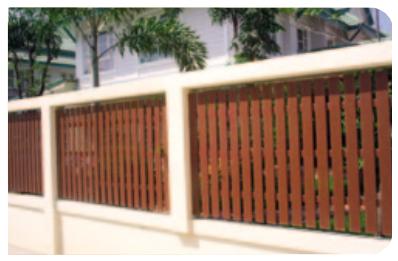 """Thanh hàng rào """"gỗ nhân tạo Diamond decor"""" Thái Lan"""