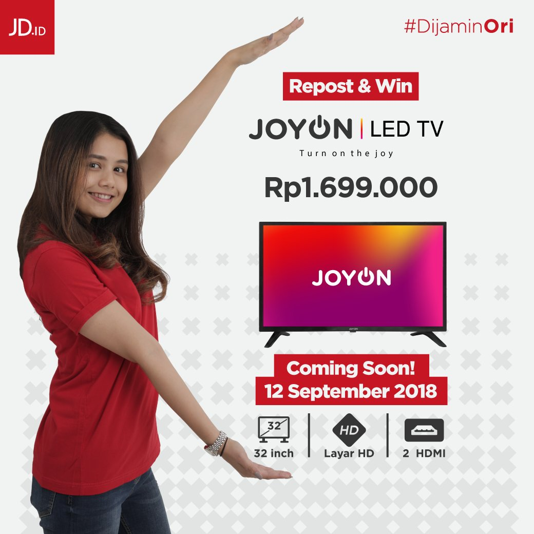 JdID - Promo Kompetisi Grand Launching JOYON LED TV 32 HD (12 Sept 2018)
