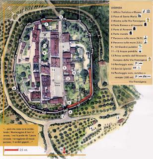 Mapa de Monteriggioni.