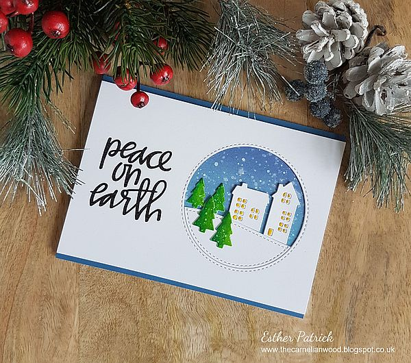Seven hills crafts blog peace on earth clean and simple christmas peace on earth clean and simple christmas card m4hsunfo
