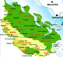 Daftar Nama Daerah Kota / Kabupaten di Provinsi Riau Indonesia