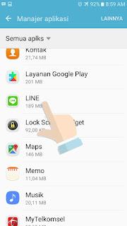 Cara ganti tema line Android