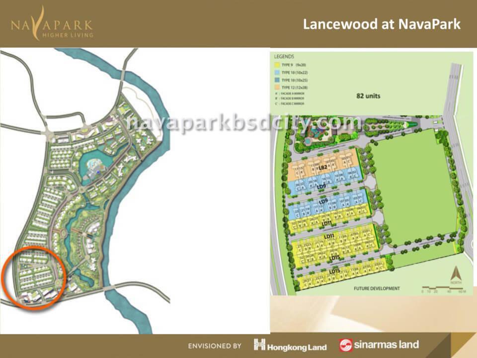 Site Plan Cluster Lancewood Nava Park