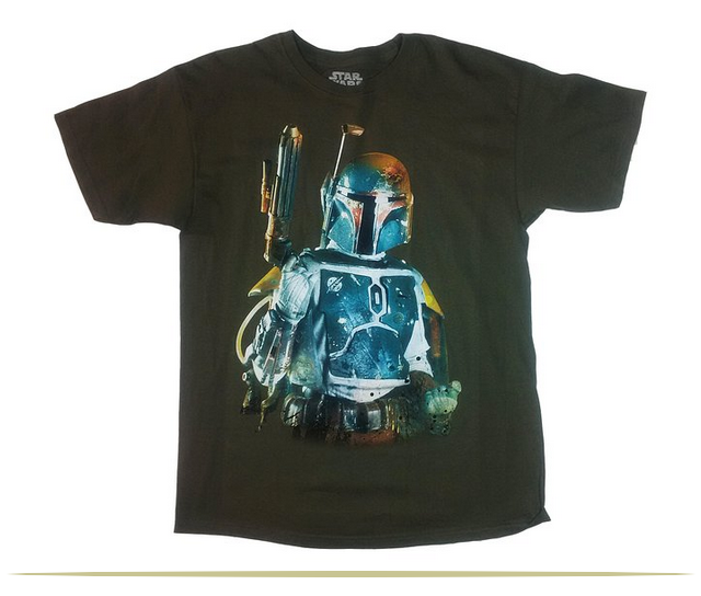 Star Wars Boba Fett Blaster Gun Graphic T-shirt  |  www.9CoolThings.com