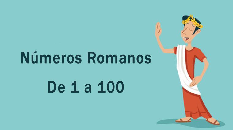 Números romanos de 1 a 100