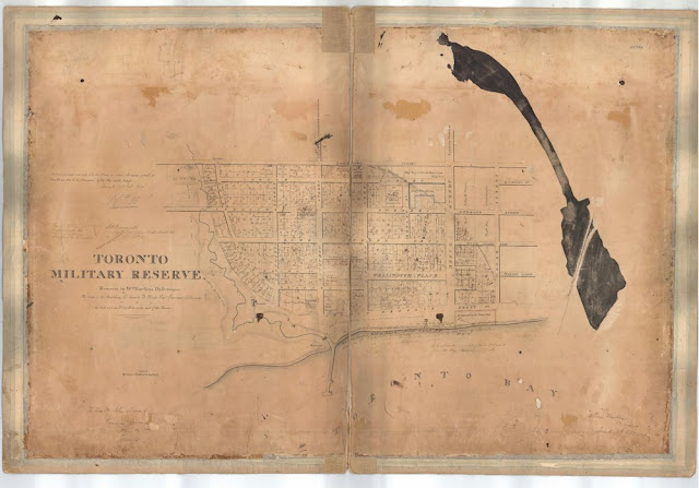 Map: Toronto Military Reserve, 18th February 1837, William Hawkins - With Lot owners
