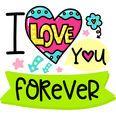 Love You Forever Sticker