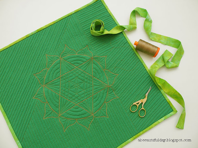 Anahata pillow cover quilt- abeeautifulday.blogspot.com