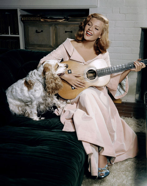 Vintage Photos of Actresses Playing Guitar ~ vintage everyday