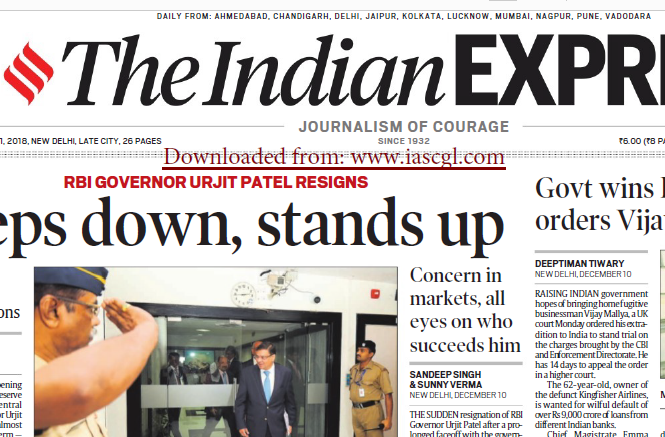 The Indian Express ePaper Download 11th December 2018
