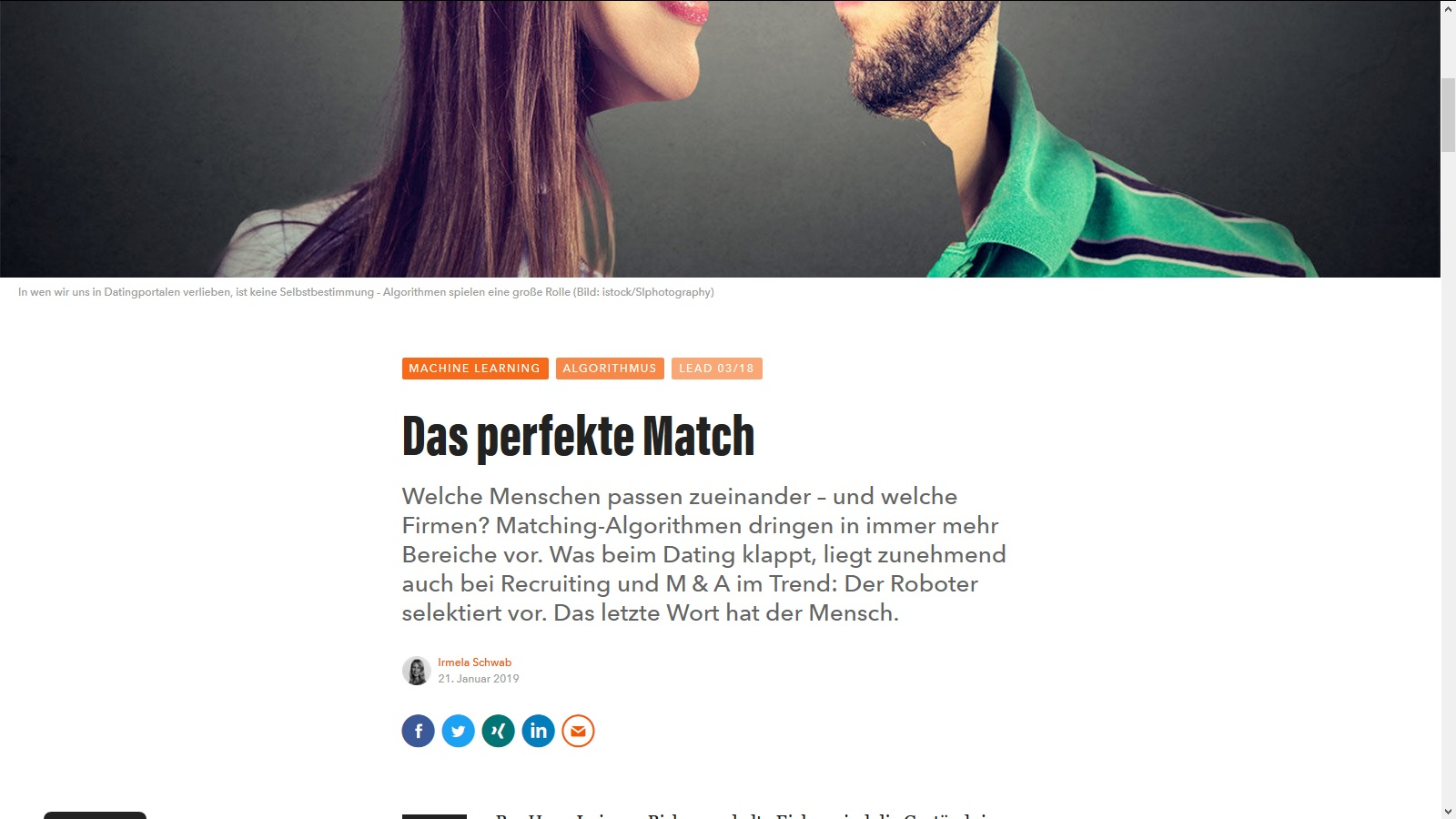 Online Dating algorithmen