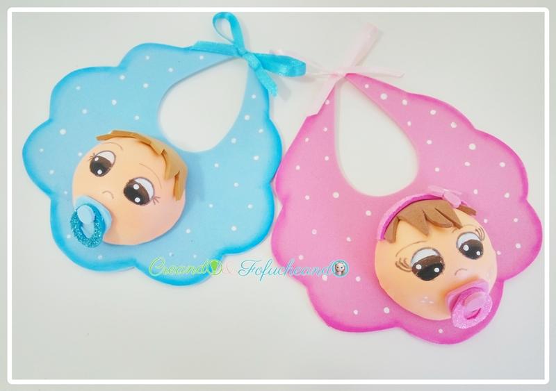 Detalles-para-Bautizos-Nacimientos-baby-shower-baberos-de-goma-eva-creandoyfofucheando