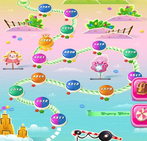 Candy Crush Saga level 5511-5525