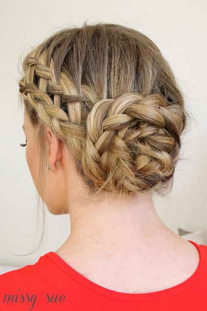 elegant braided bun hairstyles