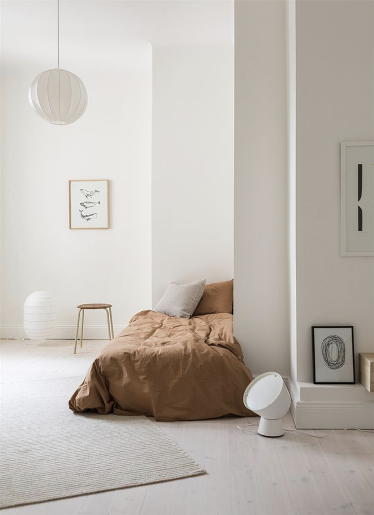 Effortless cool bedroom via wendell