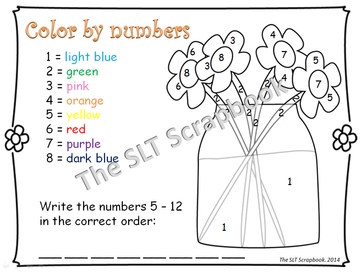 Spring coloring pages dot to dot - As Well As Two Roll And Cover Activities Encouraging Students To Count The Number Of Dots On Dice And Then Color