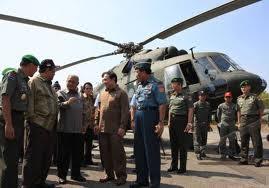 suasana penyerahan 6 helikopter mi-17 purnomo yusgiantoro