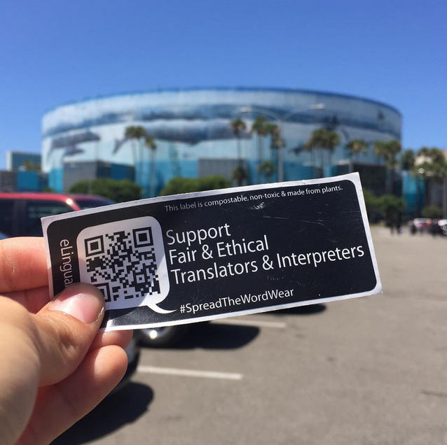 Fair And Ethical Translators And Interpreters Sticker Tagging Campaign